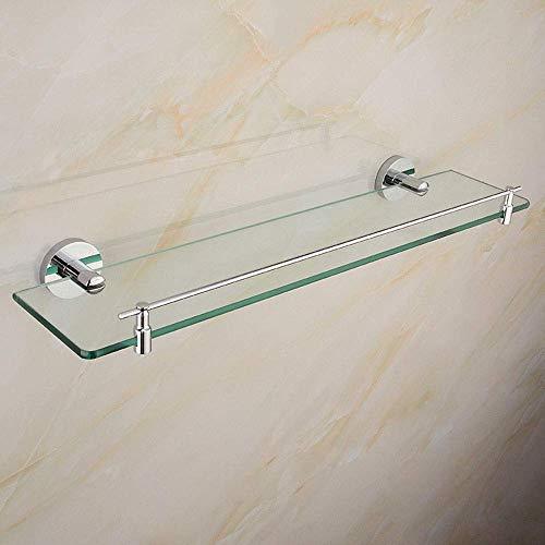 Badkamer glazen frame bad roestvrij staal spiegel voorkant kaptafel opslagplank huishouden wandbehang toilettafel badkamer plank glas (grootte: 30 cm 11 8 inch) 60cm/23.6inch