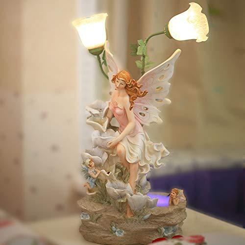 Interior Falls Spring Edition Fuente Resin Hada de Las Flores con Iluminación Decorativa de...