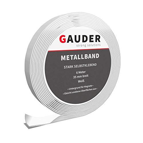 GAUDER Metallband selbstklebend I Ferroband I Magnetband I Eisenband I Stahlband