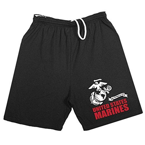 Fox Outdoor Products United States Marines Running Shorts, Black, Small