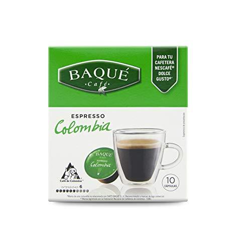 Cafés Baqué Capsulas Compatibles Dolce Gusto Espresso Colombia 40 Unidades 720 g