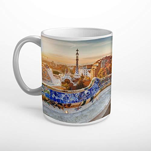 Stufffactory Barcelona Spanien Skyline Tasse Spruch Motiv Fototasse Kaffeebecher T0748