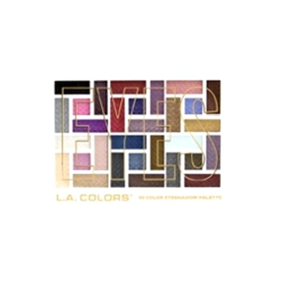 印象的なリップ郵便局(3 Pack) L.A. COLORS 30 Color Eyeshadow Palette - Back To Basics (並行輸入品)