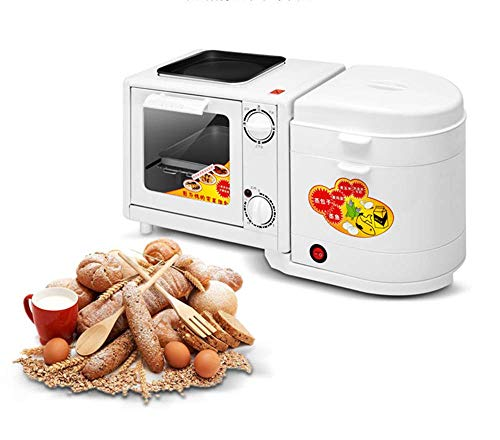 Frühstück-Maschine, 4-in-1 Multi-Funktions-Elektro-Ofen Haushalt Mini-Timing Toaster, Pizza Sandwich-Toast kshu