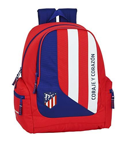 Safta 612045662 Mochila Grande Adaptable a Carro, niño Atlético de Madrid, Rojo, Blanco, Azul