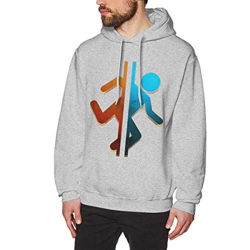 XCNGG Herren Kapuzenpullover ohne Taschen Modepullover Kapuzenpullover Men's Hooded No Pocket Sweatshirt - P-o-r-t-a-l 2
