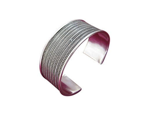 Interact China 100% Handarbeit Miao Silber Armreifen Chinesisch Ethnischer Vintage Schmuck #229