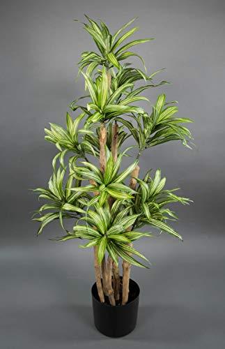 Seidenblumen Roß Dracena 90cm grün-gelb DA Kunstpalmen Dekopalme künstliche Palmen Kunstpflanzen Dekopflanzen Zimmerpflanze Zimmerpalme Drachenpalme
