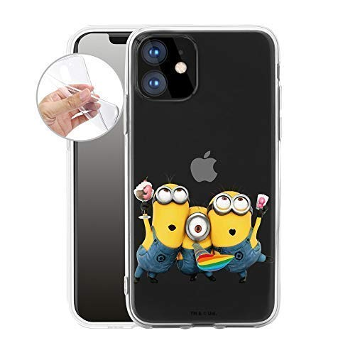 Preisvergleich Produktbild Handyhülle kompatibel für iPhone 11 - Hülle mit Motiv und Optimalen Schutz TPU Silikon Tasche Case Cover Schutzhülle - Minion EIS Party