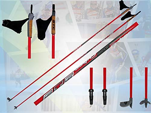 STC Cyber 60% Carbon Langlaufstock Stöcke Skating Roller Rollski Stöcke Skike (145 cm)