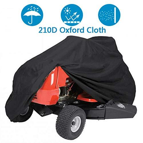 AGVER Housse Tondeuse, Pelouse Riding Tracteur Couverture 210D Oxford UV Étanche Résistant Robuste Durable Tondeuse Cover (Noir),Noir,S