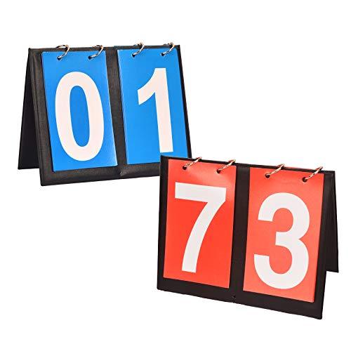 LOPOTIN 2pcs Marcador Portátil Fútbol, Deportivo Marcador, Marcador Competición, Marcador de Partido para Baloncesto Tenis Voleibol Ping Pong Béisbol Tenis Mesa Gimnasio Interior Campo Al Aire Libre.