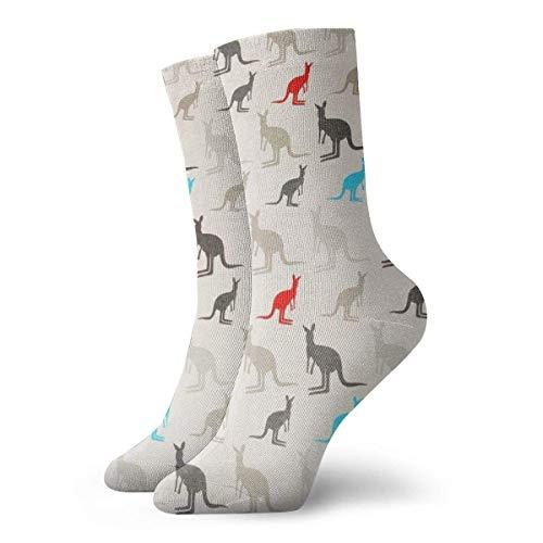Australien Kangaroos Soft Crew Dress Socken für Jungen Mädchen, Cosplay, Fußball, Skifahren