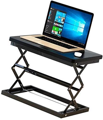 Office Life Desks Tischständer Tischlifttisch Klapptisch für Laptop Mobile Workbench (Farbe: Schwarz, Abmessungen: 50 37 48 cm), Größe: 503748 cm, (Farbe: Schwarz, Größe: 503748 cm)