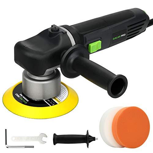 GALAX PRO Pulidora Coche, Pulidora Lijadora Eléctrica Coche 850W, 150mm Disco de Pulido, 6 Velocidades Ajustables 2000-6400RPM, Mango Desmontable