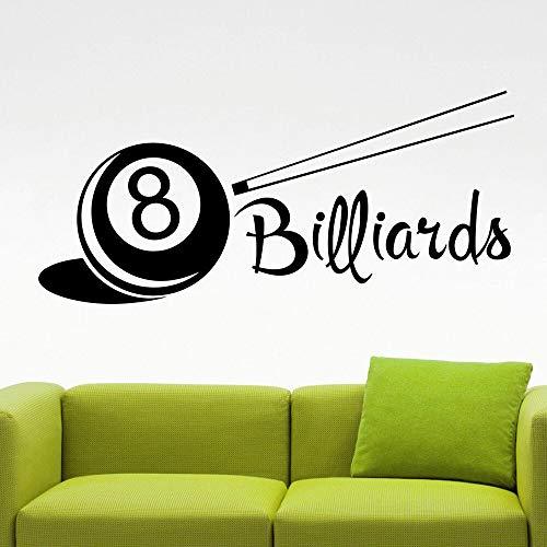 Calcomanía de pared de billar Club de billar hogar dormitorio decoración de interiores diseño vinilo Mural decoración de juego de billar pegatina de pared