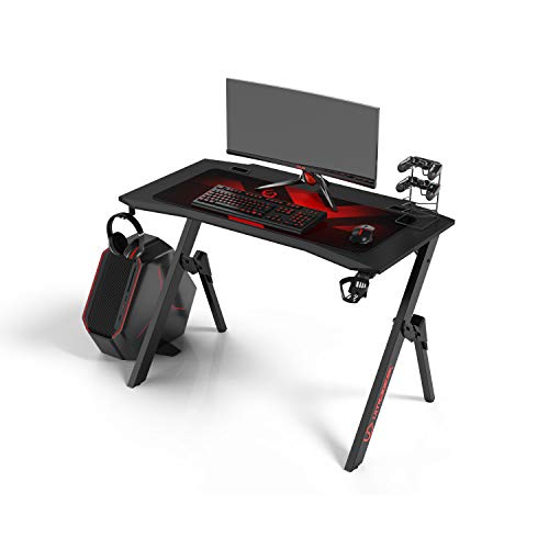 Ultradesk Action V2 - Gaming Tisch, Gamer Desk, Computertisch mit innovativem Design, Hohe...