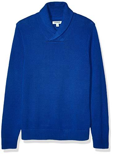 Amazon Brand - Goodthreads Men's Soft Cotton Shawl Sweater, Bright Blue X-Large