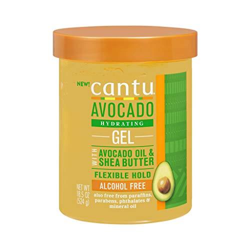 CANTU L'Oreal Avocado Hydrating Gel (Sin Alcohol) 524 g Styling 18,5oz 524gr, Negro, Estandar