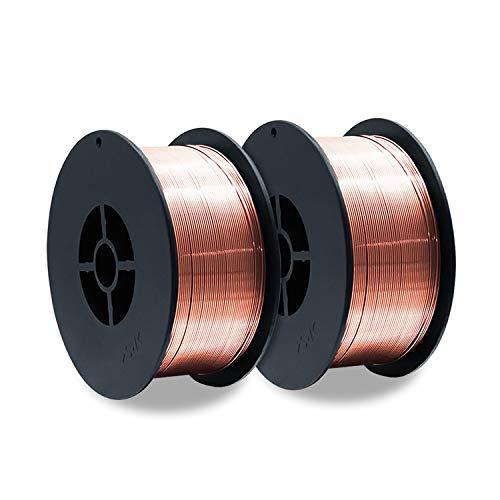 2 Stück D100 Rolle MIG MAG 1 kg Gasschutz Schutzgas-Schweißdraht Stahl ER70S-6 / Größe 0,8 mm/universell einsetzbar
