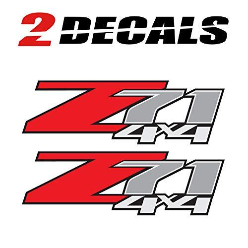 Z71 4x4 (Set of 2 Decals) - F - 1500 2500 HD Stickers