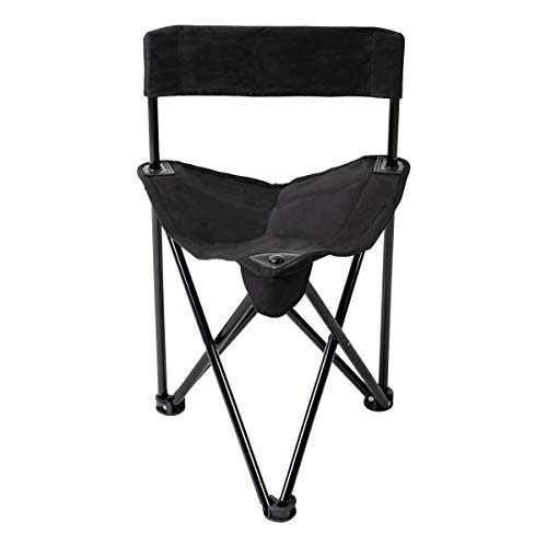 Pacific Pass Folding Tripod Chair Lightweight Portable Camping Chair Easy Carried Sports Camp Chair with Carry Bag for Camping Fishing Hiking Outdoor Hunting