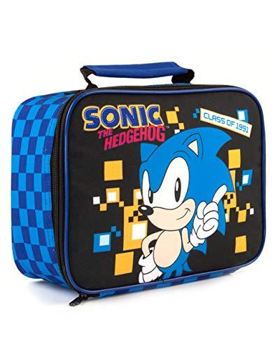 El almuerzo estilo retro Sonic The Hedgehog juego Niños Bolsa