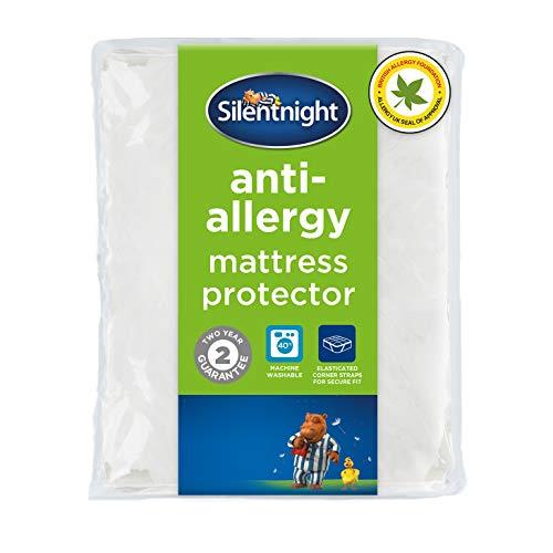 Silentnight Antyalergiczny, ochraniacz na materac Plus, biały, król, antybakteryjne ochraniacze na materac