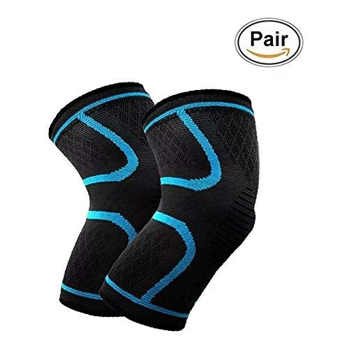 2 Stück Kniebandage, JADE KIT Knee Brace Compression Sleeve für Arthritis, ACL, MCL, Meniskusriss, Bandverletzung und Gelenkschmerzen, Hervorragend für Outdoor-Sport & Fitness 【Groß】