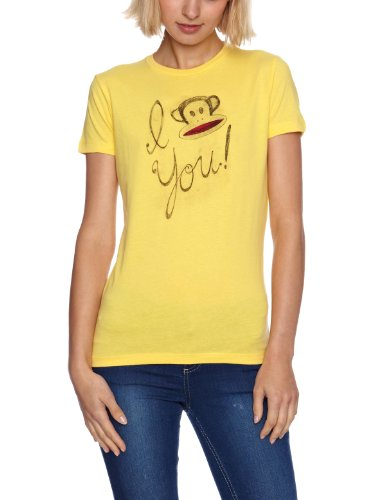 Paul Frank i Love you Julius, maniche corte da donna con stampa Yellow Small