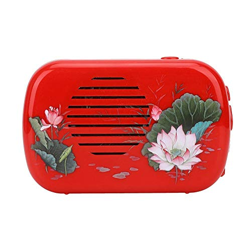 Hztyyier Buddhist Prayer Machine Buddha Music Player for The Single Cycle Hall of Amitabha Buddha, 22 Buddhist Songs(Red)