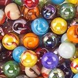 Mega Marbles SET OF 24 ASSORTED BULK - 1' SHOOTER MARBLES