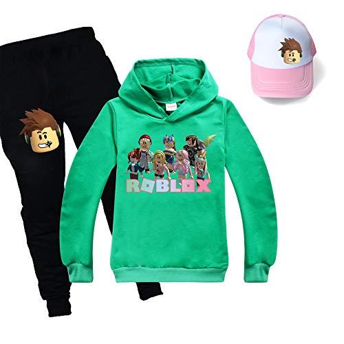 JIAQUN Roblox - Conjunto de sudadera y pantalones deportivos unisex para niños y niñas
