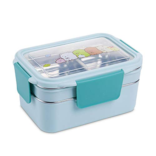 Lunch Box,Stainless Steel Double Layer Food Container Portable For Kids Kids Picnic School Bento Box