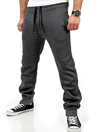 Reslad Jogginghose Herren Trainingshose Männer Sporthose Sweatpants Jogger Pants Freizeithose für Gym & Fitness RS-5060 (XL, Anthrazit)