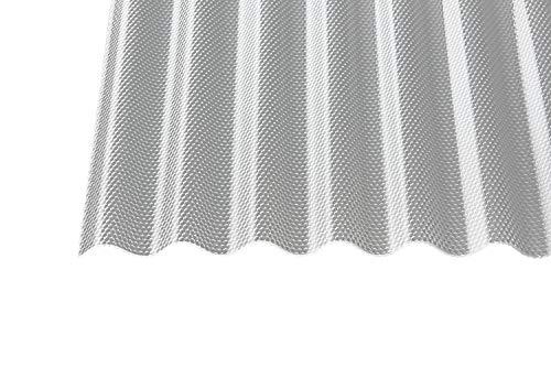 Polycarbonat Wellplatten Profilplatten Sinus 76/18 wabe Struktur klar 2,8 mm (3000 x 1045 x 2,8 mm)