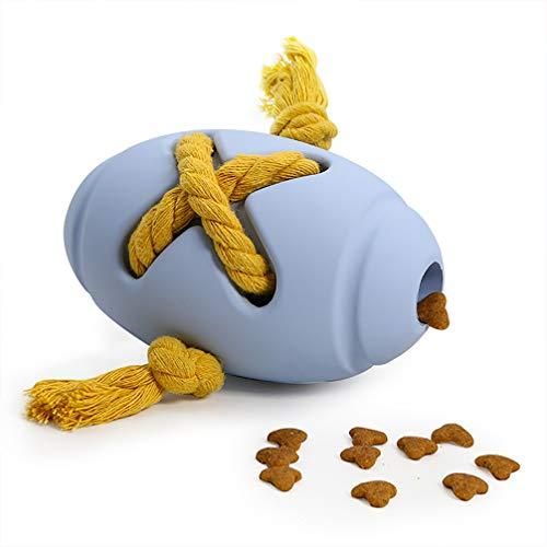 Balacoo Hondenvoer Lekkage Feeder Lekkage Bal Speelgoed Teaser Speelgoed Educatieve Interactieve Speelbal Henneptouw Decor Hond Kattenvoer Dispenser (Blauw)