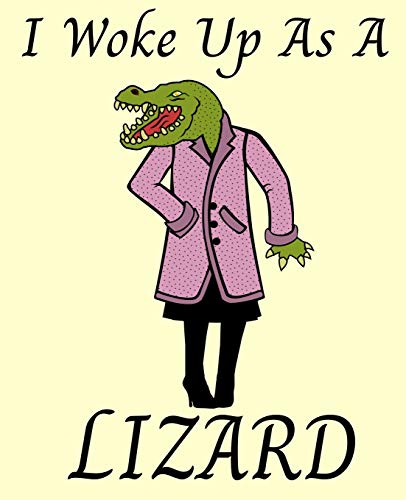 I Woke Up as a Lizard: A One Prompt Wide Ruled Lined Dot Paper for Handwriting