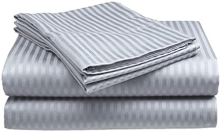 Millenium Linen King Size Bed Sheet Set - Silver - 1600 Series 4 Piece - Deep Pocket - Cool and Wrinkle Fre e - 1 Fitted, 1 Flat, 2 Pillow Cases