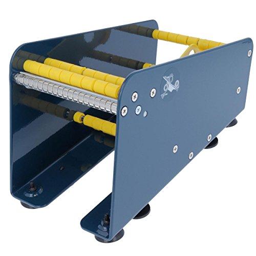 TE-Office Etikettenspender Labelspender aus Stahl für Haftetiketten Tischgerät manuell bis 113 mm