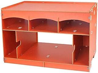 XHF Armoires de Fichiers Porte-Fichier En Bois Boîte de Rangement de Bureau Étagère D'Impression Étagère Porte-Fichier Pan...