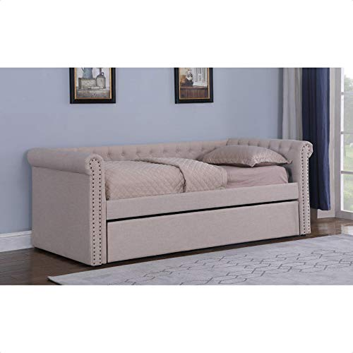Pless Upholstered Twin Daybed with Trundle