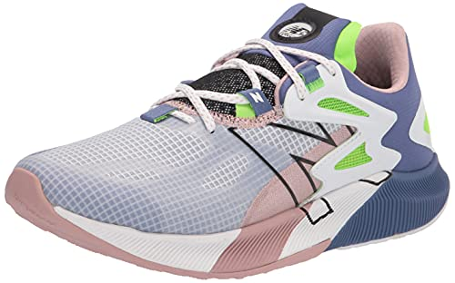 New Balance Women's FuelCell Propel RMX V1 Speed Running Shoe, White/Saturn Pink/Energy Lime, 8.5