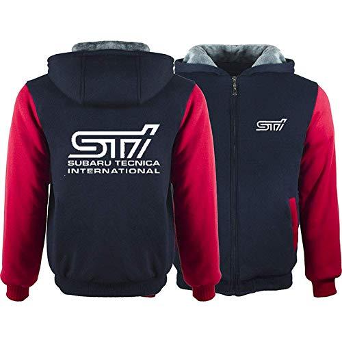 Qiutianchen Männer Kapuzenpullover Voll Zipper Print STL Subaru Tecnica International Velvet Padded Sweater mit Kapuze Mantel VliesHoodie, Geeignet for den Winter (Color : B, Size : XL)