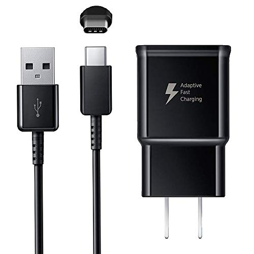 Adaptive Fast Charging Wall Charger with USB Type C Cable Compatible Samsung Galaxy S9 S9 Plus S8 S8 Plus S10 S10 Plus Note 8 Note 9 Note 10 and Other Smartphones, Fast Charger Kit for Samsung Galaxy