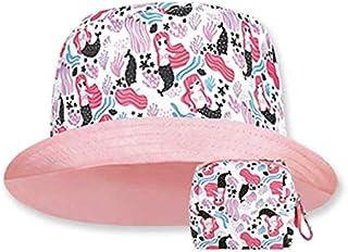 Sombrero de Sol Proteccion Solar para Niñas UPF 50+ Sirenas. Protege de la Lluvia y el Sol