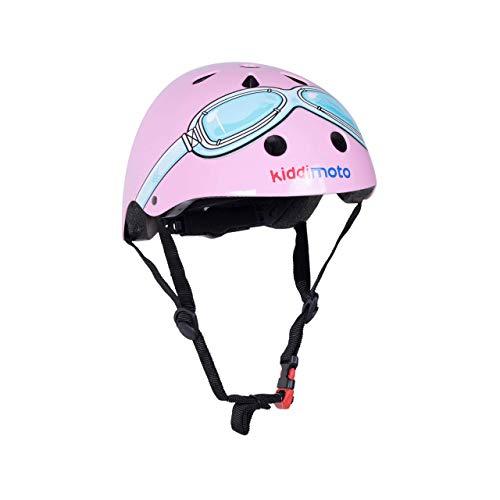 KIDDIMOTO Fahrrad Helm für Kinder - CE-Zertifizierung Fahrradhelm - Design Sport Helm für Skates, Roller, Scooter, laufrad (S (48-53cm), Rosa)