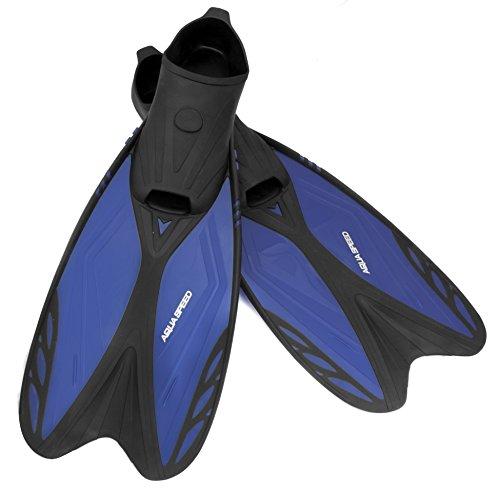 Aqua Speed Flossen Taucherflossen für Kinder und Erwachsene - Leicht und Stabil - Zum Schwimmen, Tauchen und Schnorcheln - Vapor, 11 Blau, 36/37