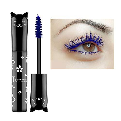 Dinglong 6 couleurs de maquillage imperméable à l'eau cils longs curling mascara extension de cils (Bleu)