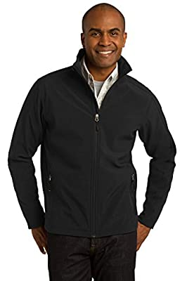 Port Authority Men's Core Soft Shell Jacket M Black from Port Authority